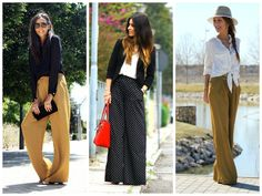 Calças palazzo #palazzopants #style #look