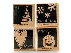 Rubber Stamps Stampin' Up Stamps Wood Mounted by DesignsByCnC, $10.00.   Use coupon code PIN10 to save 10%!