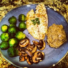 Garlic-Chili-Lime Baked Tilapia  Veggies Recipe #healthy #nutrition #cleaneating #cleanfood #running #diet #recipes