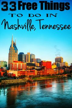 Amazing Free Things to Do in Nashville TN 33 Free Things to Do in Nashville, Tennessee - because entertainment doesn't have to cost you a bundle. These must see attractions are free and a great add in to your Free Things to Do in Nashville, Ten Nashville Tennessee, Nashville Vacation, Tennessee Vacation, Vacation Trips, Vacation Spots, Dream Vacations, Nashville Things To Do, Attractions In Nashville Tn, Nashville Must Do