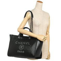 Brand Shop AXES  Chanel tote bag Lady s CHANEL A57067 Y83441 94305 black  42e55210ec01d