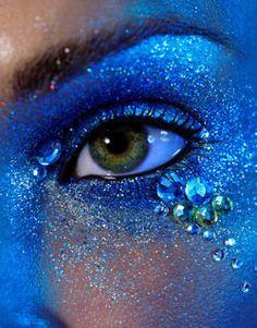 Blue, Gems, Glitter