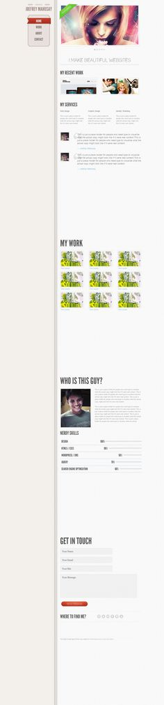 Single-Page HTML5 Portfolio Template