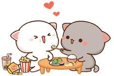 Cute Cartoon Images, Cute Love Cartoons, Cute Cartoon Wallpapers, Cute Images, Cute Love Pictures, Cute Love Gif, Cute Cat Gif, Cute Bear Drawings, Kawaii Drawings