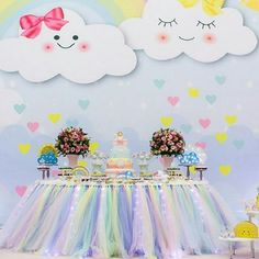 Tag your favorit girl whod love this party theme! Unicorn Birthday Parties, Unicorn Party, Birthday Party Themes, Girl Birthday, Cloud Party, Baby Shower Parties, Baby Shower Themes, Shower Baby, Deco Buffet