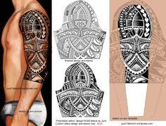 """Polynesian tattoo for sleeve"" by Juno - 3/4 custom tattoo design and stencil cost : $420 https://junotattooart.wordpress.com/"