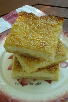 Food for thought: Τυρόπιτα με Τριμμένο Φύλλο Κρούστας Greek Cheese Pie, Cyprus Food, Greek Cooking, Recipe Boards, Mediterranean Recipes, Greek Recipes, Different Recipes, Tasty Dishes, Food For Thought