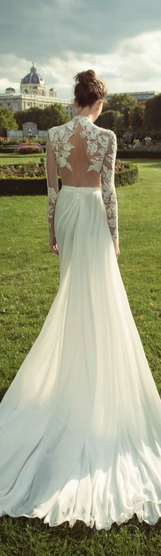 long sleeve lace wedding dress. Soft & romantic