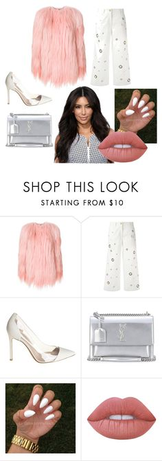 """Untitled #55"" by hmbms ❤ liked on Polyvore featuring Numerootto, Kenzo, Gianvito Rossi, Yves Saint Laurent and Lime Crime"
