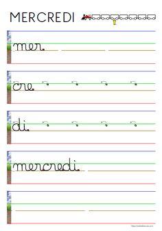 Alphabet Cursif, Sheet Music, Classroom, Aide, Ms, Kindergarten Portfolio, Nursery School, Good Handwriting, Writing In Cursive