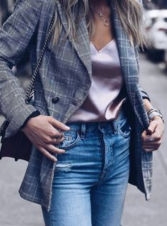 what to wear with a palid balzer bag silk top jeans