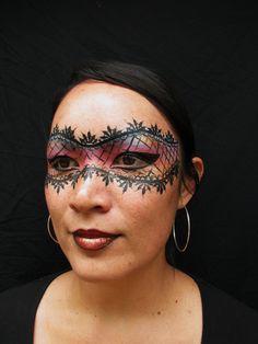 Lace Mask Video Tutorial Slideshow—Face Painting Tips: Face Paints Shop