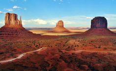 Monument Valley en la costa oeste de Estados Unidos