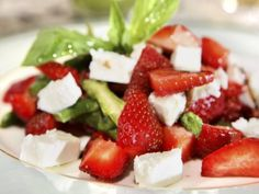 Summer Greens with Strawberries and Feta