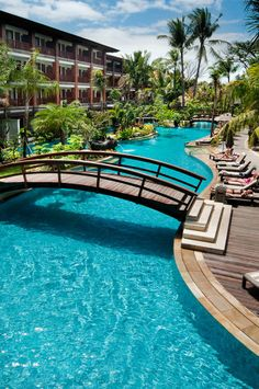 View deals for Padma Resort Legian. Legian Beach is minutes away. WiFi and parking are free, and this hotel also features 3 outdoor pools. Beach Hotels, Beach Resorts, Hotels And Resorts, Beautiful Hotels, Beautiful Places, Pool Bridge, Bali Legian, Bali Architecture, Vietnam