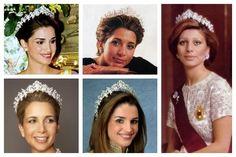 Photos (clockwise from top left): Queen Rania of Jordan; Princess Haya of Jordan, Sheikha of Dubai; Queen Alia of Jordan; Queen Rania of Jordan; Princess Haya of Jordan, Sheikha of Dubai