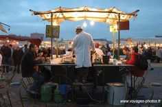 """Marrakesh, Morrocco, Best place to eat in the world...Jémaa El Fna Square, a very big outdoor dinning room, only at night, this pic...people eating """"escargots""""  with soup.....delicious!!!! I can live there!"""