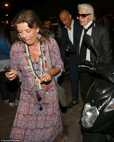 The who is the eldest child of Rainier III, Prince of Monaco, and iconic actress Grace Kelly, was in high spirits as she left Le Senequier in Saint Tropez on Sunday night. Karl Lagerfeld, Royal Fashion, Love Fashion, Prince Of Monaco, Estilo Real, Monaco Royal Family, Royal Brides, Star Wars, Fashion Over 50