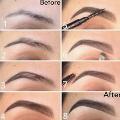 "Brow Routine using Brow Wiz in ""Ebony"" & Brow Powder in Brunette"