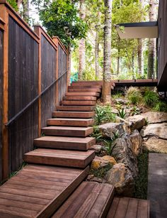 Top 5 Beautiful Garden Stair Design Ideas For You Make Inspiration Garden or yard is an important part of a house for every gardening landscape idea. You can use stones to make a garden, but there must be at least one. Steep Gardens, Back Gardens, Outdoor Gardens, Garden Stairs, Backyard Fences, Backyard Landscaping, Fence Design, Garden Design, Stair Design