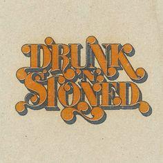 custom typography, 70s style, vintage, retro, logo, t-shirt, Rockswell, classic rock, rock&roll, type, graphic design, alcohol, marijuana, high, joint, bong,