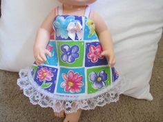 """Baby Alive Doll Clothes Dress Handmade Stretch Doll Dress for 11"""" Doll 