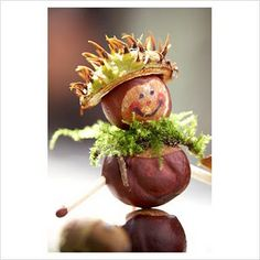 Leuk- chestnut man- cute - I would cut of the match heads first, before kids make these.