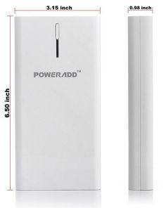 Poweradd™ Pilot X6 High Capacity Dual-Port Portable Charger Backup External Battery Pack Power Bank with LED Flashlight - 20800mAh
