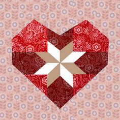piecing heart quilting blocks - Google Search