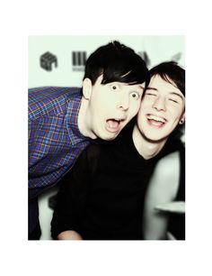 Even if phan isn't real, just look at how happy Phil makes Dan! Like you can see the love he has for Phil, even if its platonic and that makes me happy (although I would be super amazing if phan was real XD) Dan Howell, Daniel James Howell, British Youtubers, Best Youtubers, Phil Lester, Phan Is Real, Dan And Phill, Phil 3, Danisnotonfire And Amazingphil