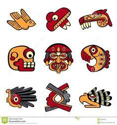 Polymer Clay - Mayan art on Pinterest | Mayan Symbols, Maya and Aztec
