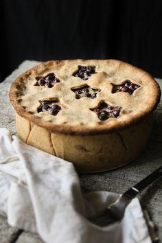 Deep Dish Blueberry pie! WHOA.