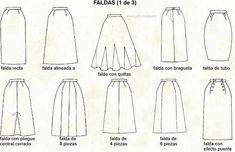 Las faldas que mejor se adaptan a la forma y el largo de las piernas
