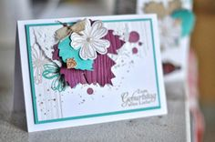 Love the colors in this card - autumn accents, secret garden