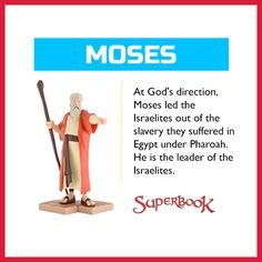 """'Did you know that Moses wasn't great at speaking, yet God chose him to tell Pharaoh, """"Let My people go."""" Often God uses our weaknesses to show His great power!   This Moses toy will remind your kids to let God use their weaknesses for His glory (US Only): http://go.superbk.co/toys'"""