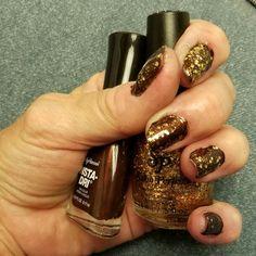 Sally Hansen Extreme Wear in Cocoa A Go-go, Salon Perfect in Fool's Gold