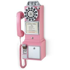 Crosley Radio 'Pay Phone' Wall Phone ($70) ❤ liked on Polyvore featuring home, home decor and retro home decor