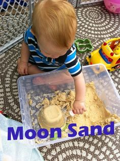 Easy Moon Sand Recipe! Your kids will love it and it will keep then busy for hours.