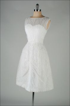 Vintage White Cocktail Dress