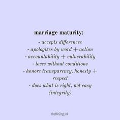 Marriage maturity is about honor and selflessness as ONE. Show your spouse the same love and respect you would give and expect for yourself. Selfless Quotes, Respect Quotes, Wisdom Quotes, Marriage Life, Marriage Advice, Love And Marriage, Relationship Advice Quotes, Relationship Struggles, Love Life Quotes