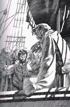 Berni Wrightson illustrations for Frankenstein by Mary Wollstonecraft Shelley Bernie Wrightson's edition of Frankenstein was fir. Bd Comics, Horror Comics, Horror Art, Comic Book Artists, Comic Artist, Comic Books Art, Gravure Illustration, Illustration Art, Frankenstein