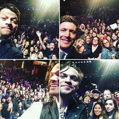 Selfies with the boys! Jared, Jensen, Misha, and Alex.