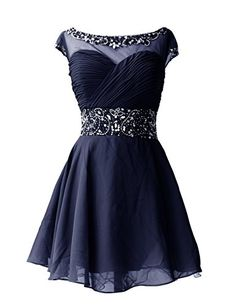 Dresstells Knee Length Prom Dress for Girls Short Homecoming Dress Navy Size 2 Dresstells www.amazon.com/...