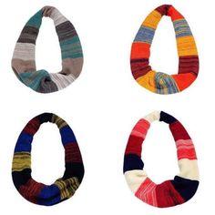 Women Unisex Winter infinite Circle Loop Cowl Knitted Warm Neck Long Scarf Shawl