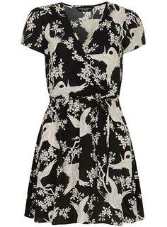Black bird wrap tunic - Tops & T-Shirts  - Clothing