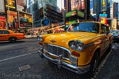 Yellow Cab, Manhattan, NYC, New York