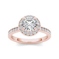 De Couer 14k Rose Gold 1 1/2ct TDW Diamond Engagement Ring (, I2), Women's