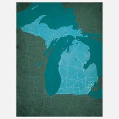 Fab.com | Michigan 12x16 Print
