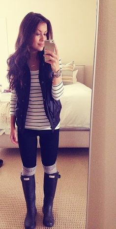 boots, stripes, and vest!