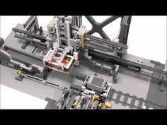 LEGO Automatic Crane Loader for GBC Train - YouTube Lego Engineering, Lego Robot, Lego Trains, Lego Models, Lego Technic, Crane, Marcel, Blog Entry, Electronics